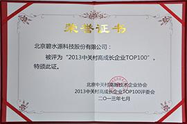 2013中关村高成长企业TOP100