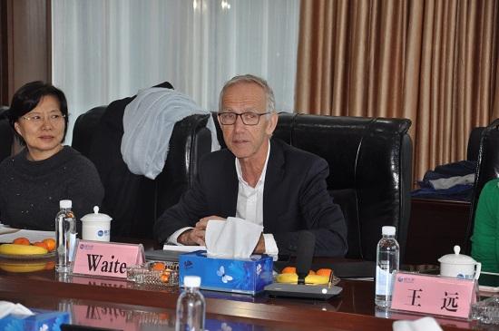 美国国家工程院院士、新南威尔士大学David Waite教授赴2017最新注册送金开展火炬项目合作成果交流